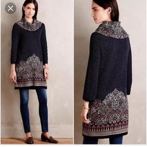Imperial Garden tunic sweater - Anthropologie - S
